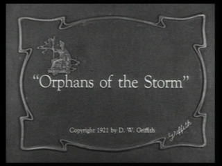 Orphans of the storm movie title