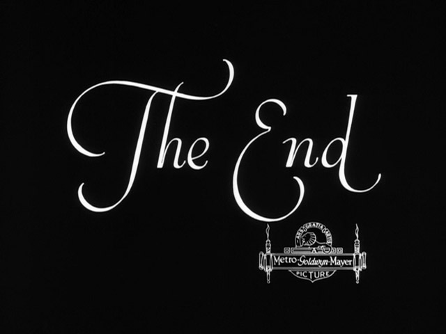 """Now there are two pages with """"The End"""" titles from two different studios it's interesting to compare them. If you liked 'The End' of Metro Goldwyn Mayer ..."""