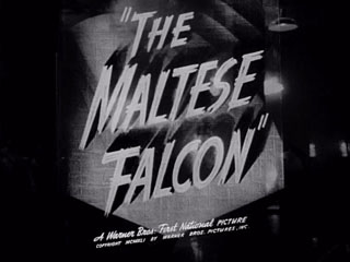 The Maltese falcon trailer title