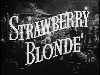 The strawberry blonde trailer title