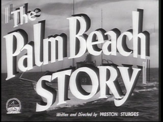 The palm beach story trailer title