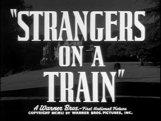 Strangers on a train trailer title