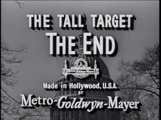 The tall target movie title