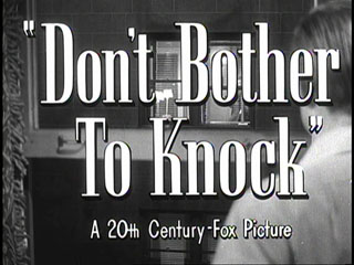 Don't bother to knock trailer title