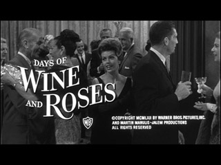 Days of Wine and Roses trailer title