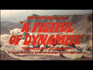 A fistful of dynamite movie trailer title