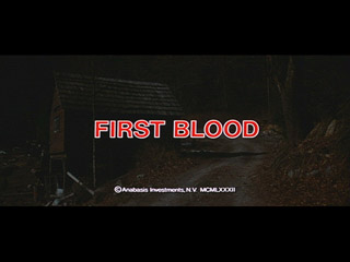 First blood movie title screen shot
